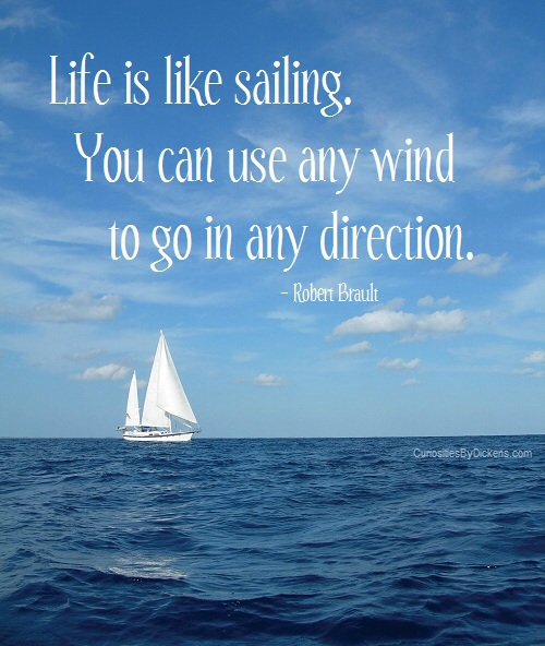 Life is like sailing, you can use the wind to go in any direction