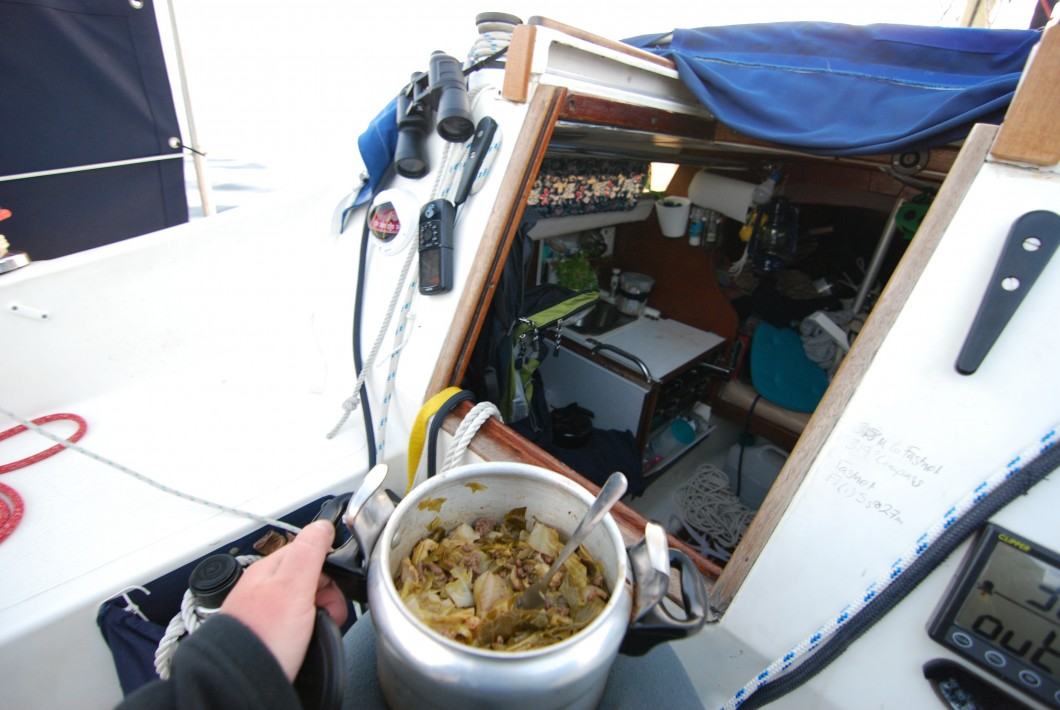 Pressure cooking at sea